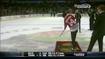 Curtis Granderson plays Shoot the Puck