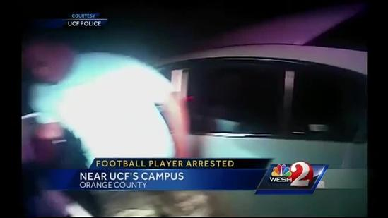 UCF football player benched after DUI charge