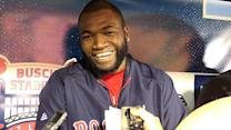 Ortiz talks about playing the field in World Series