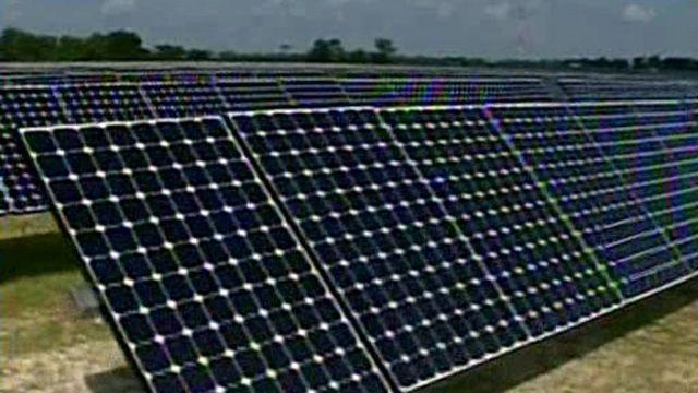 Stimulus funds used to buy solar panels from China?
