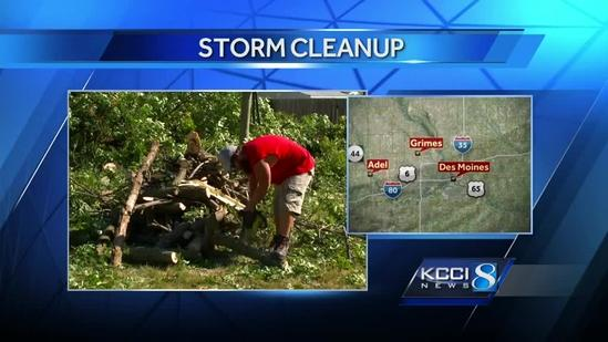 Storm damage cleanup across Iowa