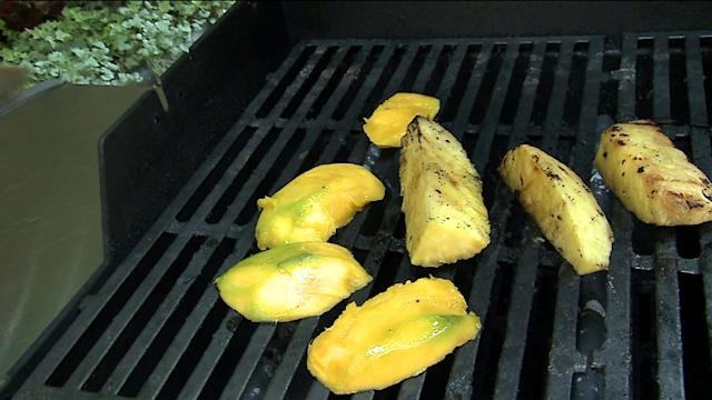 How to Make a Grilled Peach, Mango, Pineapple and Lime Sorbet