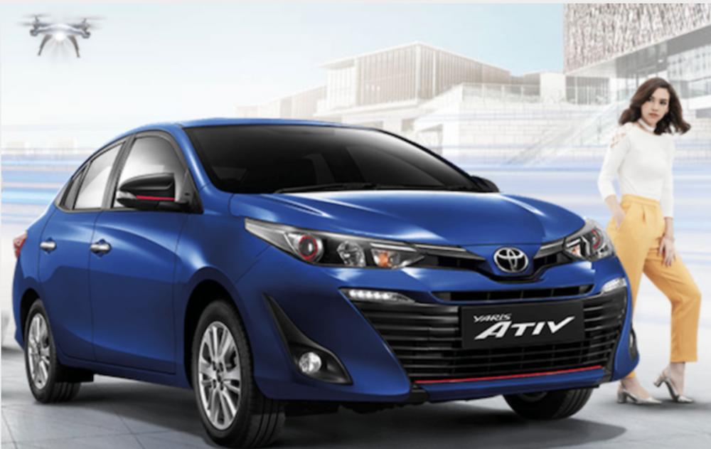 7 氣囊首度出現在台灣的 Toyota Vios 配備裡,不過頂規車型才有這配備。此為泰歸 Yaris ATIV。