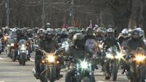 Russian Bikers' Celebration of WWII Soviet Victory Stokes European Tension
