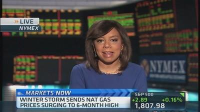 Winter storm pushes natural gas prices higher
