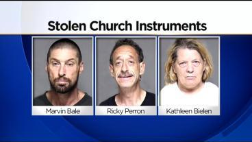 3 Arrested After Trooper Finds Stolen Church Instruments
