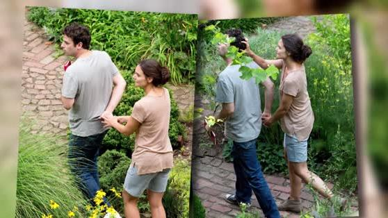 Katie Holmes Gets Affectionate With Luke Kirby