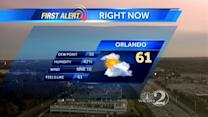 Cold front moves into central Fla.