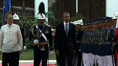 Raw: Obama Welcomed to Presidential Palace