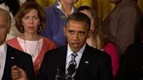 "Obama: ""Shame on us if we've forgotten"" Newtown"