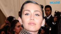 Miley Cyrus Shows Off Blue and Green Hairstyle at Met Gala