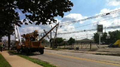 From The Field: Crews Repair Damage At Lift Truck Depot