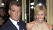 Pierce Brosnan Makes Friends on Set