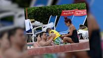 Pregnant Nicole 'Snooki' Polizzi Hits the Pool With Her Family